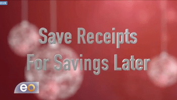 Save Christmas Receipts for Savings Later