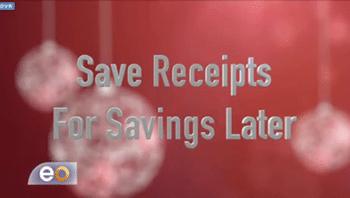 Save Christmas Receipts for Savings Later