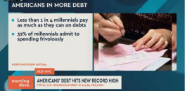 US Household Debt Hits Record Level