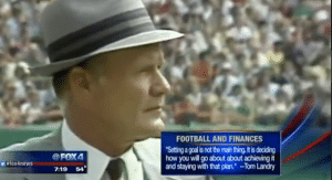 Tom Landry on Football and Finances