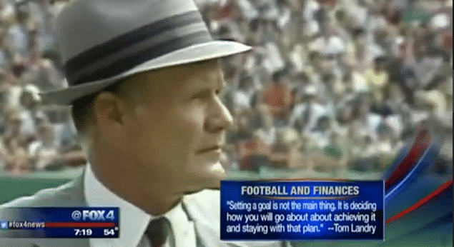 Tom Landry on Football and Finances