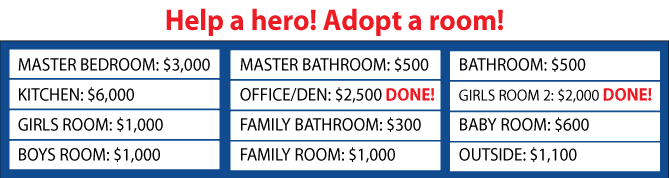 Operation Finally Home Adopt a Room Fundraiser