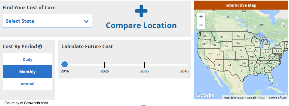 Compare Long Term Care Costs by State