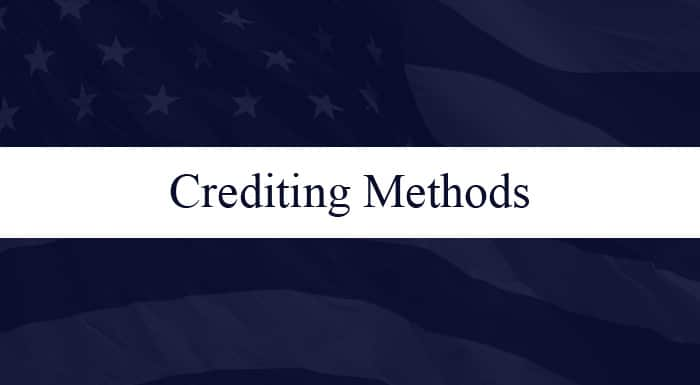 Retirement Annuity Crediting Method - Monthly Sum